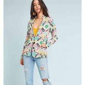 ALDOMARTINS Anthro Floral Intarsia Jacket